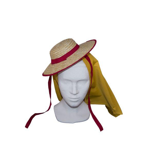 Sombrero de paja tradicional canario traje maga