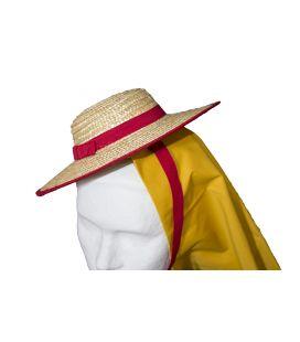 Sombrero de paja tradicional canario para traje de maga niña
