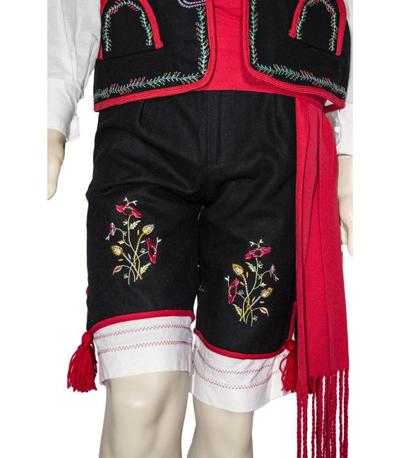Pantalón bordado modelo Santa Cruz hombre típico fiestas regionales tradicionales canarias
