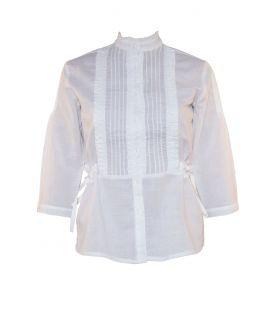 Blusa Clara en blanco o en crudo para traje regional de mujer