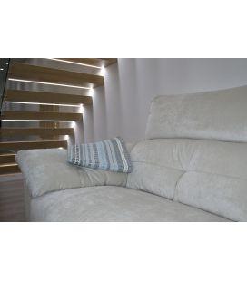 Manta de sofá S2 celeste gris