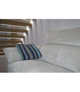 Manta de sofá S1 azulina oro