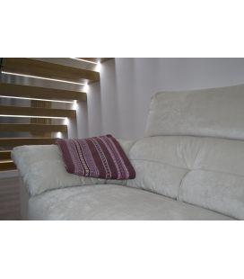 Manta de sofá S1 ciruela