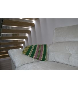 Manta de sofá S1 verde botella