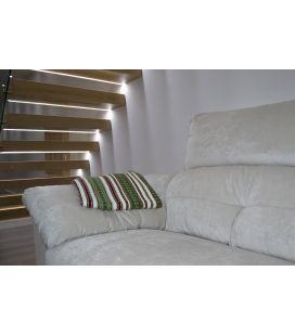 Manta de sofá S2 crudo verde