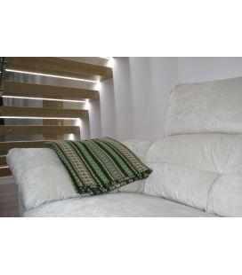 Manta de sofá S2 verde botella