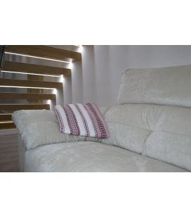 Manta de sofá S1 blanco rosa