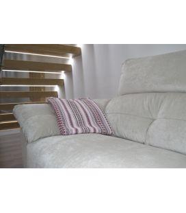 Manta de sofá S2 rosa berenjena