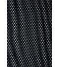 Pañuelo estampado cabeza - fondo negro/topo blanco