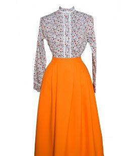 Falda Strech Naranja