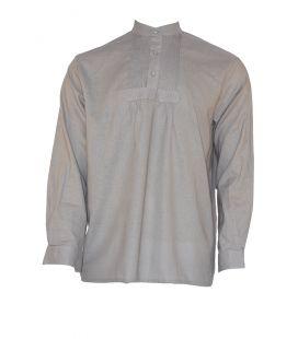 Camisa Lino Económica Gris