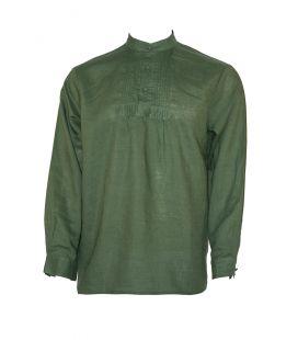 Camisa Lino Económica Verde
