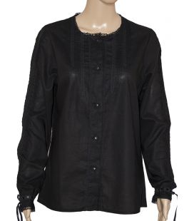 Blusa Mañica Negro