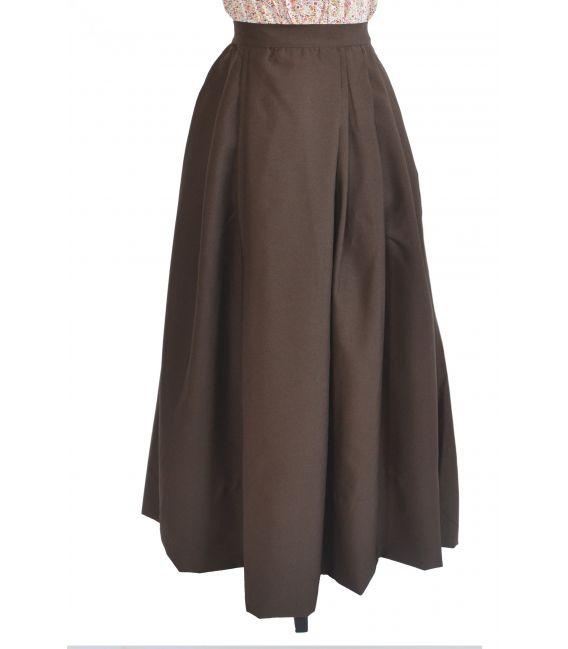 falda strech marron