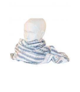 Bufanda S2 Blanco azul