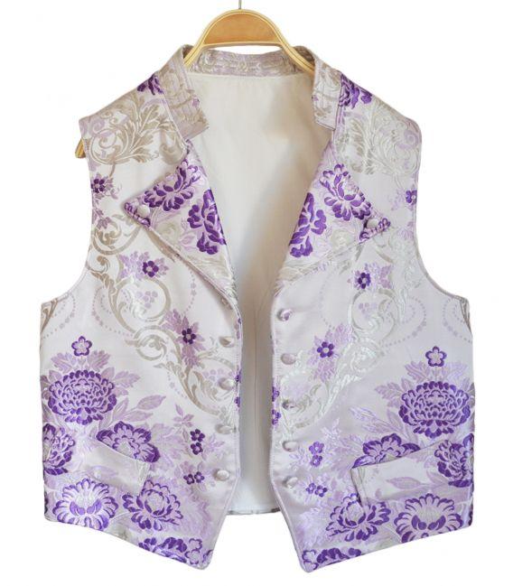 Chaleco Solapa de Tejido de Valenciana - Rosa talla-----
