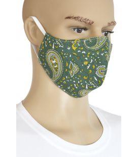 Mascarilla tela motivos verde