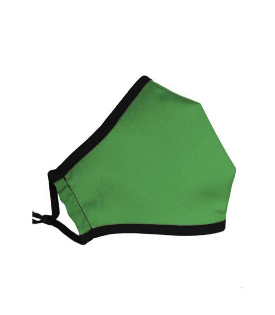 Mascarilla tela verde billar